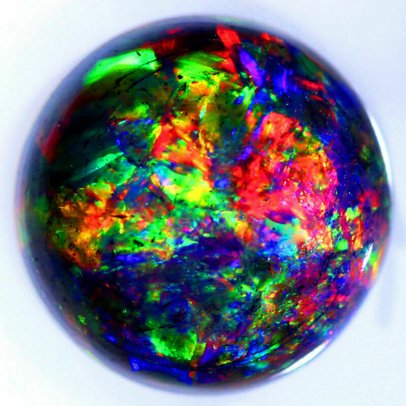 8 MM ROUND NATURAL EXTREME DIZZLER TSEHAY HONEY WELO BLACK OPAL WHOLESALE PRICE