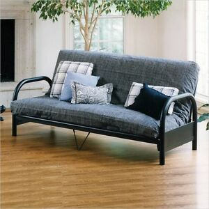 Brand new black futon bed with extra thick mattress sale !