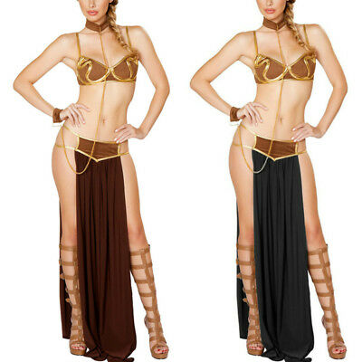 Women Princess Leia Slave Fancy Bra Top Dress Star Wars Bikini Halloween - Princess Leia Costume Bikini