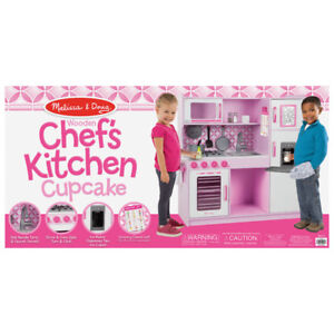 Melissa & Doug Chef's Wooden Modern Play Kitchen - Cupcake New