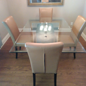 Glass Top Dinning Room Table