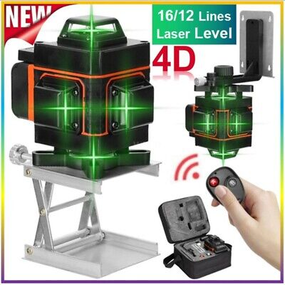 Laser Level 1216 Lines Green Beam Auto Self Leveling 360 Rotary Cross Measure