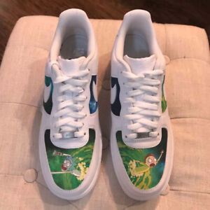 Rick and Morty Custom Air Force 1