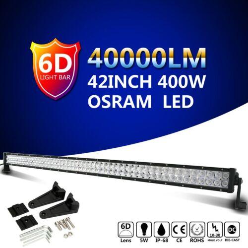 400W 42inch OSRAM LED Light Bar 6D Combo Beam Work Off road Truck Boat SUV Lamp