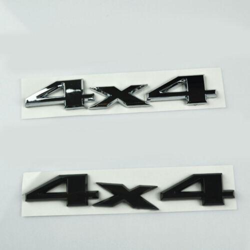 Auto Silver Metal 4WD Badge Rear Trunk Body Fender Emblem Sticker For All SUVs