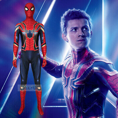 Avengers Infinity War Iron Spider Man Cosplay Kostüm Costume Outfit - Spiderman Kostüm Bodysuit