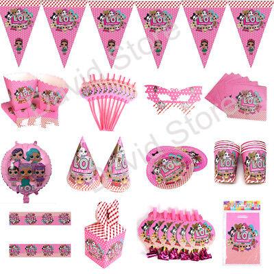 100x LOL Überraschung Geburtstag Party Dekoration Kinder Mädchen Geschirr Banner ()