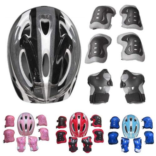 7x Kinder Skateboard Fahrrad Helm Knie Ellbogenschützer Protektoren Schutz Set