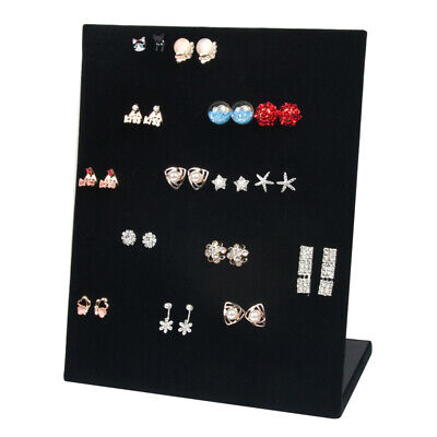 Black Velet Ramp Earrings Jewelry Display Stand Holder Organizer Storage Cases