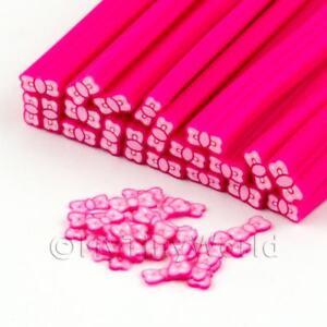 3x-hecho-a-mano-rosa-pajarita-Bastones-Arte-Unas-dnc45