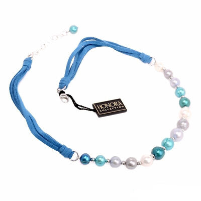 Honora Pearl Sterling Silver Adjustable Statement Necklace With Ocean Pearls