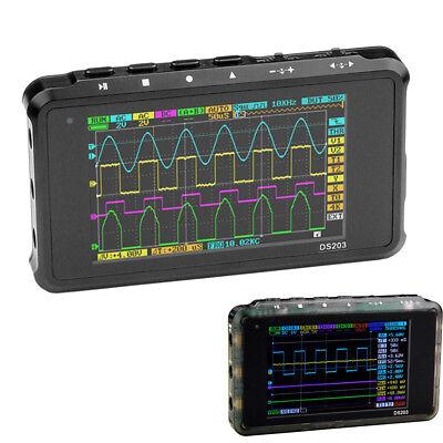 Portable Ds203 Lcd 4-ch Digital Oscilloscope 8mb Memory 72msas Handheld Scope