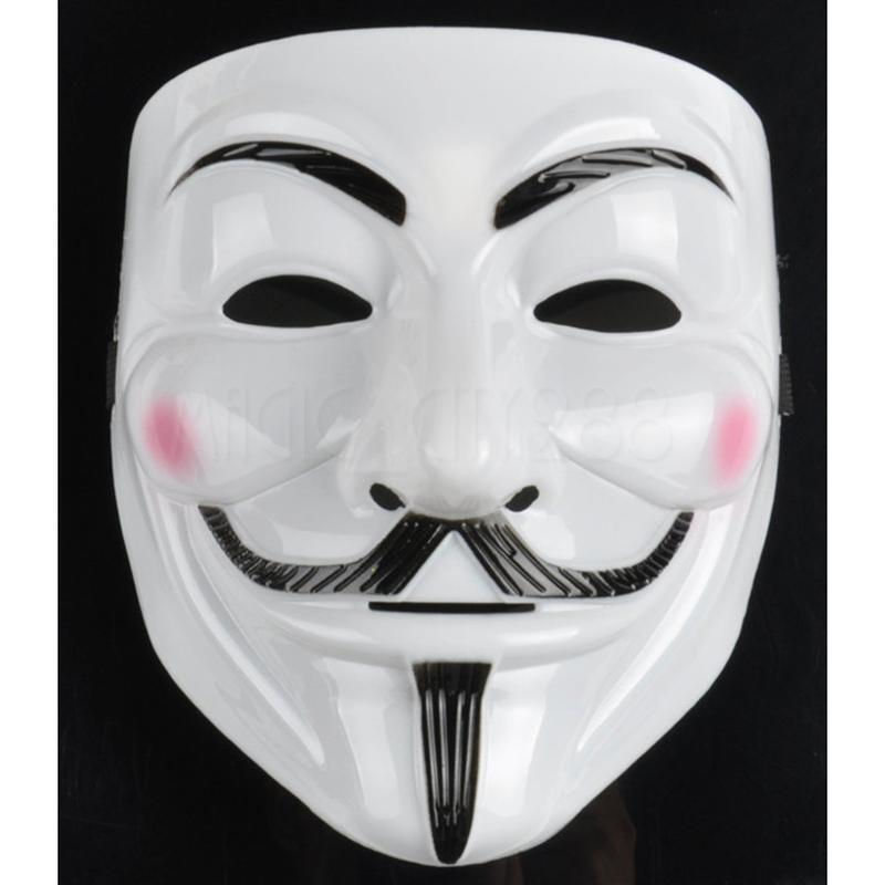 LIGHT UP LED Guy Fawkes V for Vendetta Mask, EL Wire Mask, Rave Blue ...