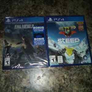 Ffxv and steep both brand new