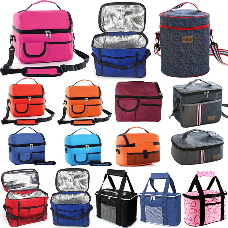 Portable Thermal Insulated Lunch Bag Large Travel Picnic Foo