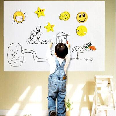 New 1778inch Removable Dry Erase Board Wall Whiteboard Draw Sticker W 5 Chalks