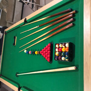 Custom pool table with marble base