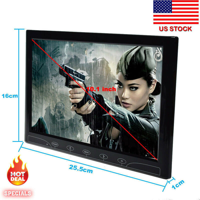 TOGUARD 10.1inch Security CCTV Monitor 1024x600 Touch Buttons LED Display Screen