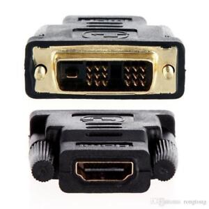 HDMI Female to DVI ( 18+1 ) Male Adapter - Gold Connector - Black