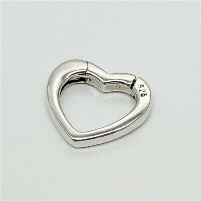 -  925 Sterling Silver Love Heart Lobster Clasp Connector for Bracelet Necklace