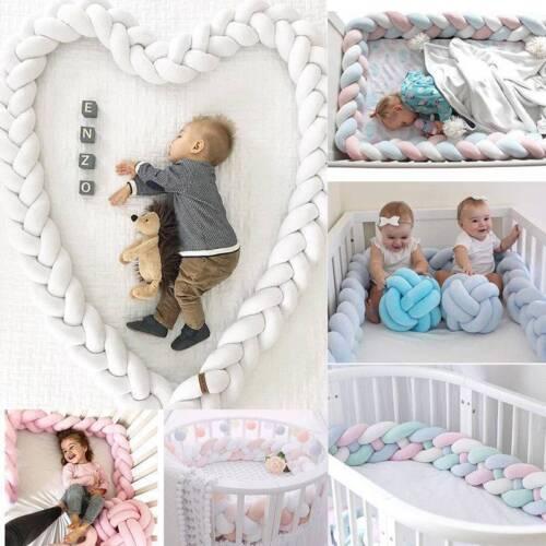 Baby  Nestchen Kopfschutz Knotenkissen Bettschlange Farbe Babynestchen 1M-3M DE
