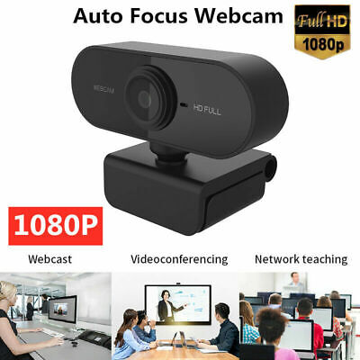 Webcam Auto Focusing Web Camera 1080P HD Cam w/ Microphone For PC Laptop Desktop