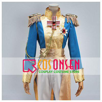 The Rose of Versailles Manga Edition Oscar Guard Team Uniforms Cosplay Costume (Oscar Costume)