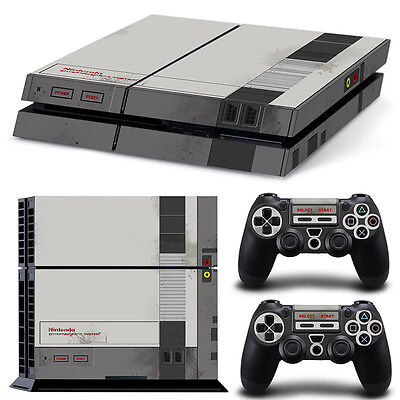 Ps4 Playstation 4 Console Skin Decal Sticker Old NES Retro Custom Design...