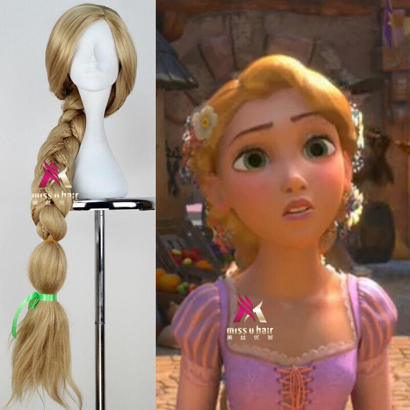 Tangled Rapunzel Disney Princess Long Blonde Braid Anime Cosplay Party Wig Hair Ebay