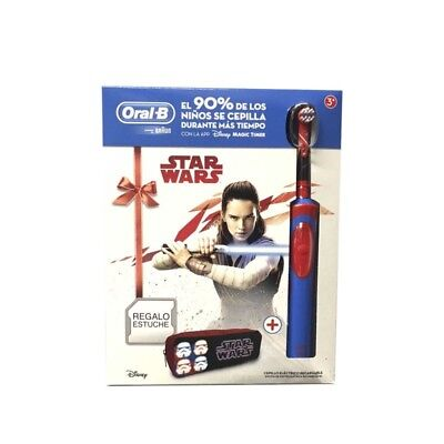 Cepillo Dental Eléctrico Recargable ORAL-B Stages Star Wars. Regalo Estuche