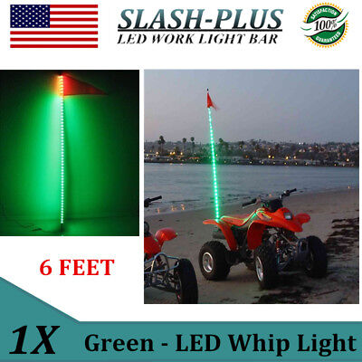 6ft Green LED Whip Light For RZR ATV UTV JEEP OffRoad Super Bright 6