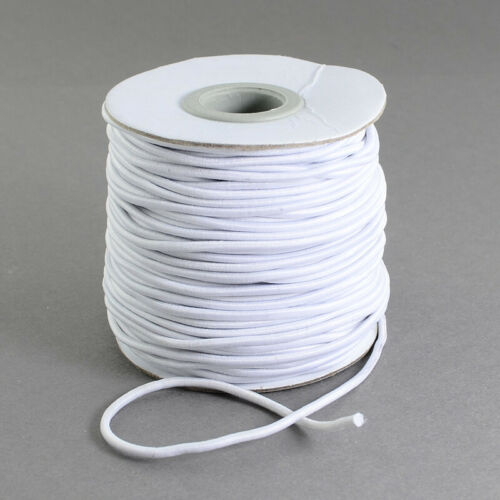 1 Roll Diy White Round Elastic Cord String Thread For Diy Jewelry