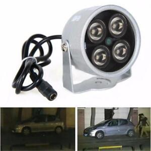 4 LED Infrared Night Vision IR Light Illuminator Lamp IP Camera #