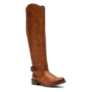 Genuine Leather Brown Riding Boots