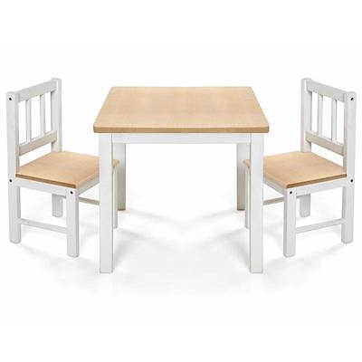 Reer Kindersitzgruppe Eat&Play Kindermöbel Tisch 2x Stuhl aus Holz