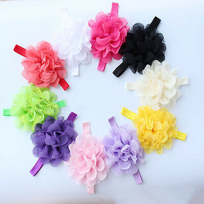 Infant Baby Bows - 10pcs Girl Headband Baby Flower Bands Toddler Infant Hair Bow Gilr Flower Band