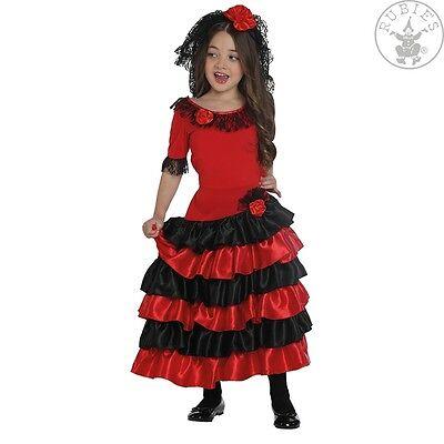 RUB 12108 Spanierin Kinder Kostüm Karneval Spanien Tänzerin Flamenco - Flamenco Tänzerin Kostüm Kind