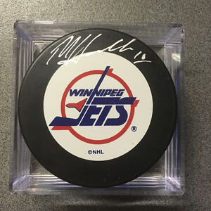 Dale Hawerchuk Signed Jets Puck