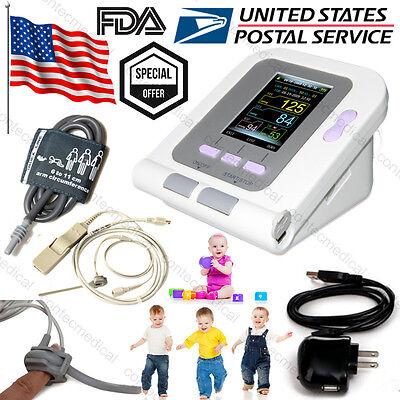 Infantpediatric Upper Arm Blood Pressure Monitor Nibpspo2 Probepower Charger