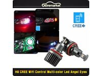 BMW CREE RGB LED 120W Angel Eyes Halo Light H8 Bulb