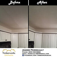 Specialize in drywall repairs (water damage)