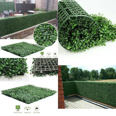 Leaf Outdoor Wall (40*60cm Artificial Ivy Leaf Hedge Mat Fence Fake Plant Grass Wall Outdoor)
