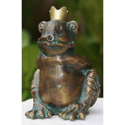 Frog Prince Gargoyle Bronze Figure Frog Frogs Figure Bronze New RO-88880