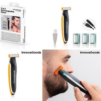 Afeitadora electrica inalambrica recargable de precision(recorta,perfila,afeita)