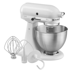 KitchenAid Classic 4.5-Quart Bowl Stand Mixer, White. New in box