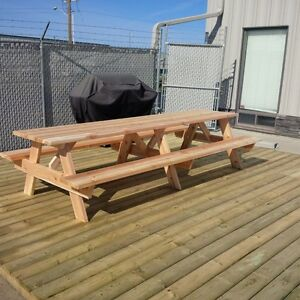 Cedar Picnic Table Kits - 3ft to 10ft sizes West Island Greater Montréal image 6
