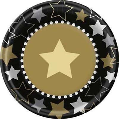 Hollywood Themed Party Dessert Cake Plates 8 Per Package Party Supplies New