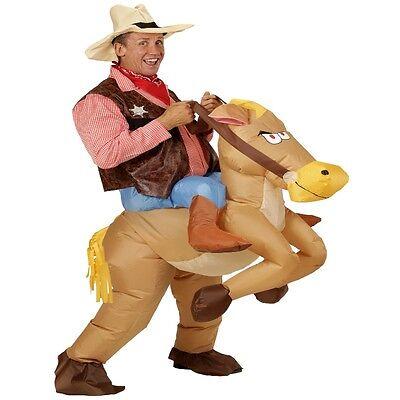 AUFBLASBARES PFERD Reiten COWBOY ERWACHSENEN Kostüm Party Junggesellenabschied (Aufblasbares Pferd Kostüm)