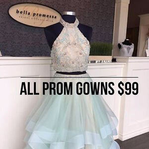 PROM GOWN SALE - ALL DRESSES $99