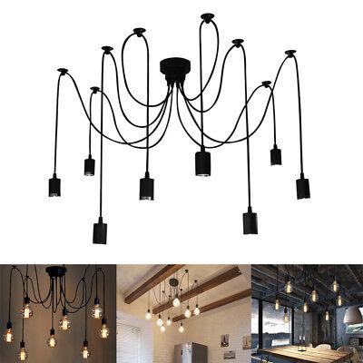 6 8 10 12 Heads Pendant Ceiling Light Adjustable Lamp Fixture Spider Chandelier - Light Fixtures Adjustable Lamps